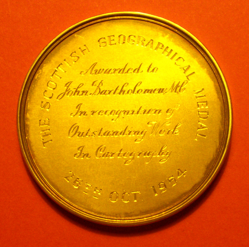 John Bartholomew: The Scottish Geographical Medal