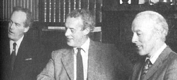 Left to right: Peter (1924–1987), Robert (1927– ) and John (1923-2008) Bartholomew