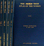 The Times Atlas of the World (Mid-Century edition), in 5 volumes (Times) published 1955-60