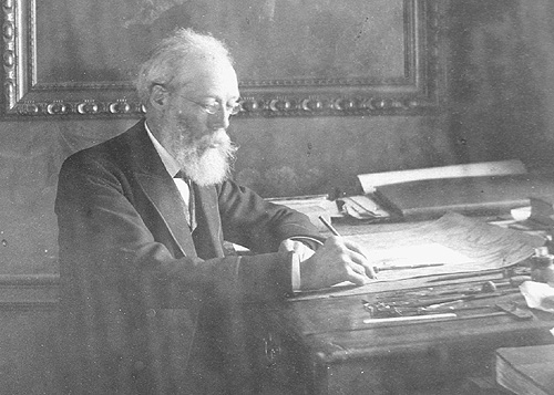 John Bartholomew, Junior at his desk